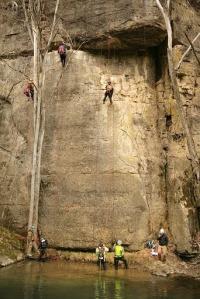 rappel cliff